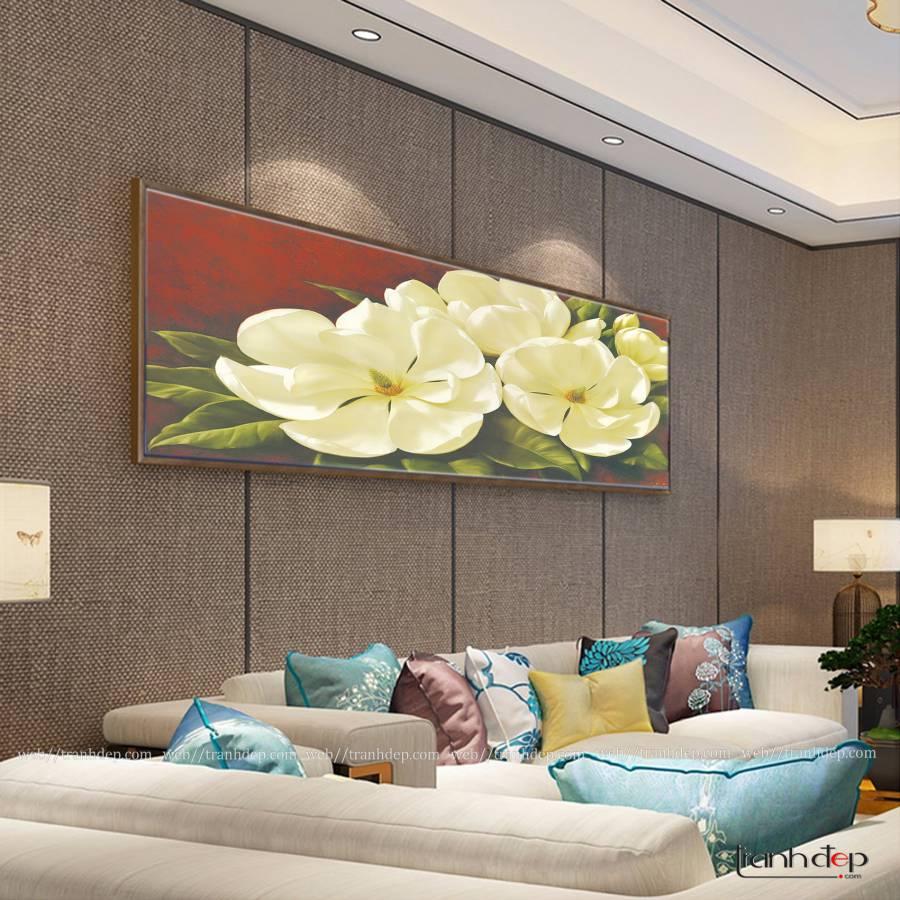 Tranh hoa đẹp trang trí không gian sống