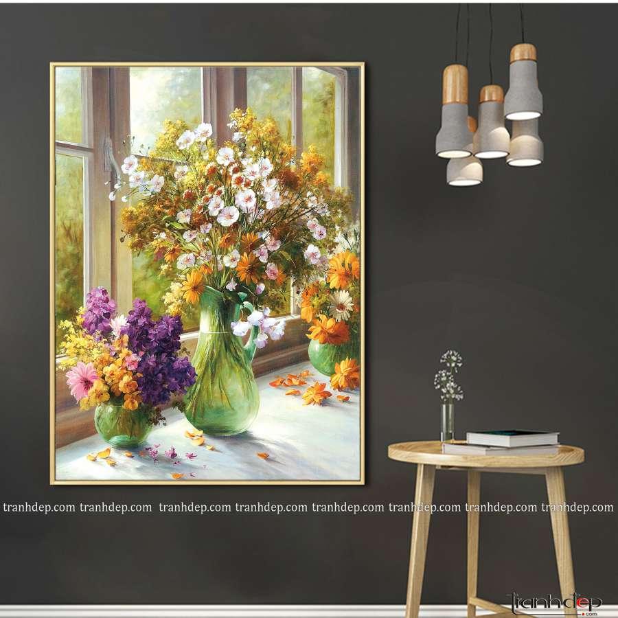 Tranh hoa cúc vàng