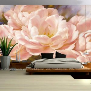 tranh hoa tra treo phong ngu cuc dep