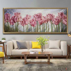 tranh hoa tulip dep treo nha hien dai va dan tuong