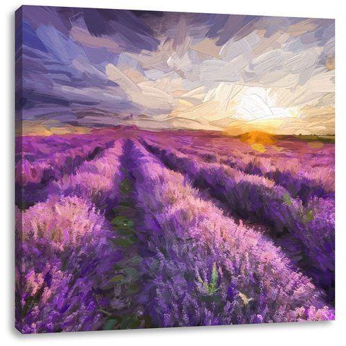 tranh cánh đồng hoa oải hương