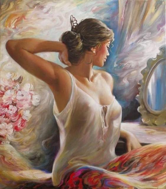 tranh cô gái nghệ thuật