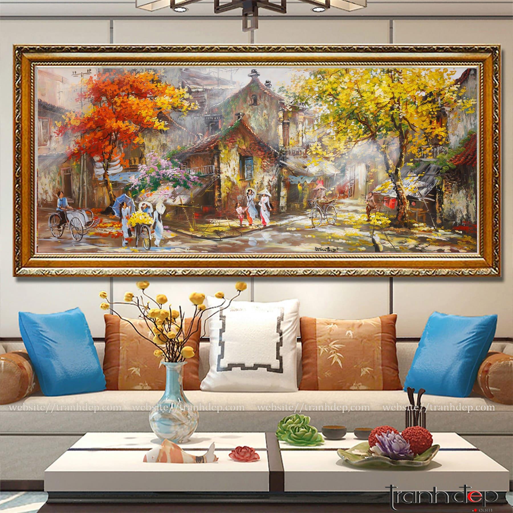 giá tranh dán tường phong cảnh
