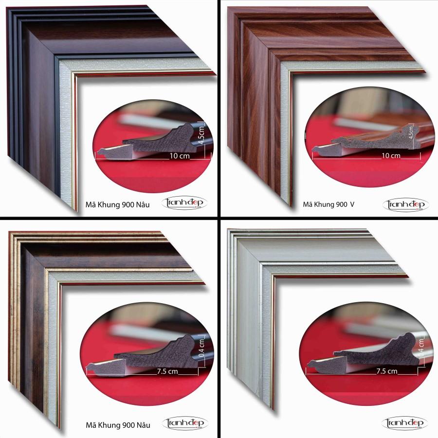 Mẫu khung tranh dành cho tranh sơn thuỷ hữu tình đẹp